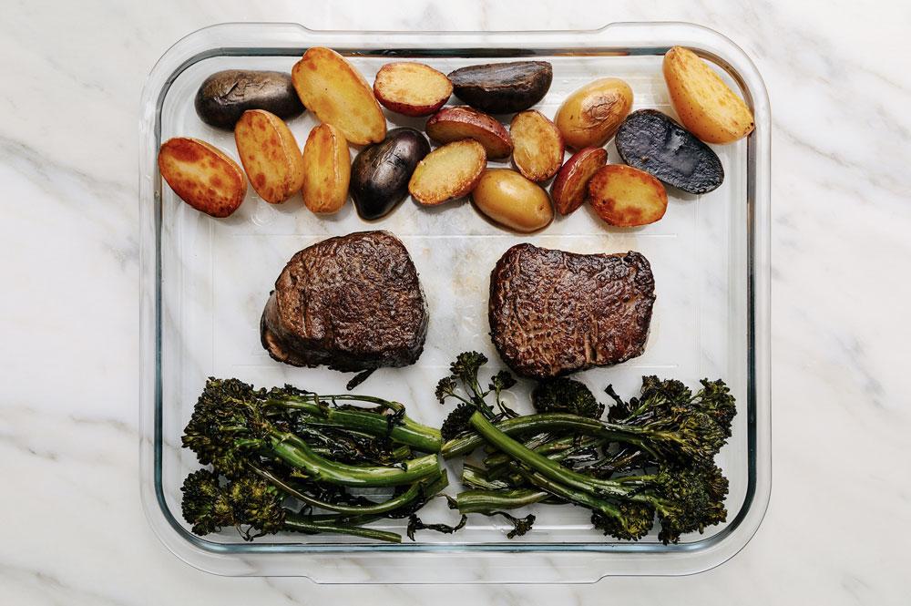 Filet Mignon, Baby Broccoli & Roasted Potatoes
