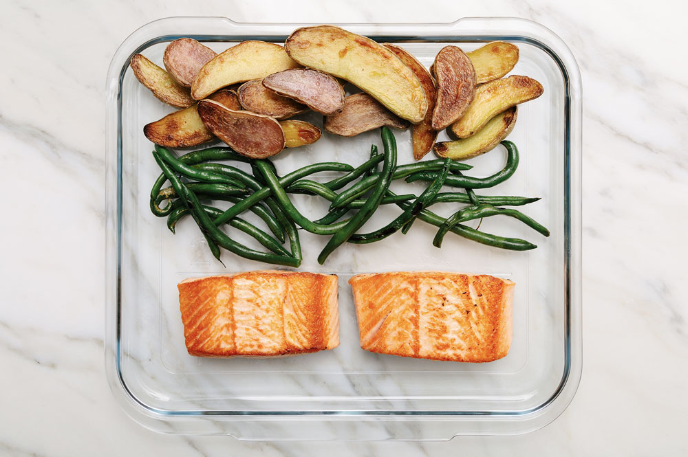 Salmon, Green Beans & Roasted Potatoes