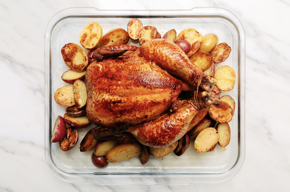 Whole Roasted Chicken & Potatoes